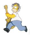 Auch Homer greift gerne zur Les Paul, wenn er abrocken will.